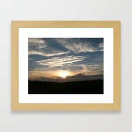 just another tennessee sunset Framed Art Print