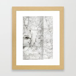 Bruised (no colour) Framed Art Print
