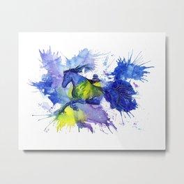 Watercolor and Ink Horse Metal Print