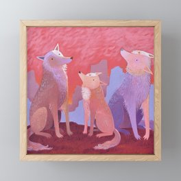 Howl Time Framed Mini Art Print