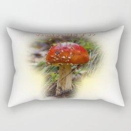 Mushroom Amanita muscaria Rectangular Pillow