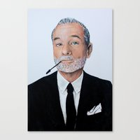 bill murray Canvas Prints featuring Bill Murray. by elizabeth connor