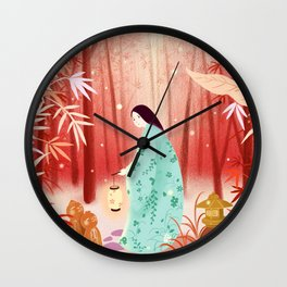 Spirit of The Red Forest Wall Clock