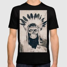 INDIAN SKULL 2X-LARGE Mens Fitted Tee Black