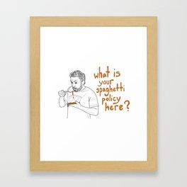 Charlie Kelly - Spaghetti Policy Framed Art Print