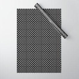Polka Dots (White/Black) Wrapping Paper