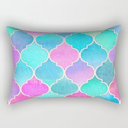 Bright Moroccan Morning - pretty pastel color pattern Rectangular Pillow