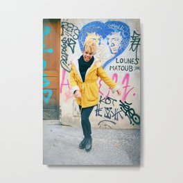 Parisian Mugshots - The Graffiti Smile (Gueules de Parisiens) Metal Print