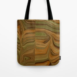 WOULD earth tone camouflage woodgrain Tote Bag