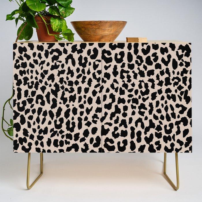 Tan Leopard Credenza