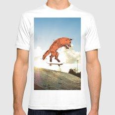 Skateboard FOX! MEDIUM White Mens Fitted Tee