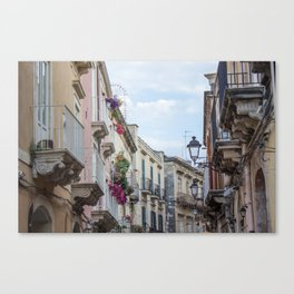 Street in Syracuse, Sicily Canvas Print
