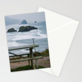 Haystack Rock view from Ecola 2 Stationery Cards