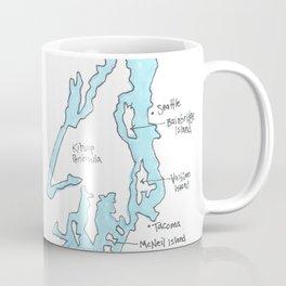 Puget Sound by Seattle Artist Mary Klump Coffee Mug