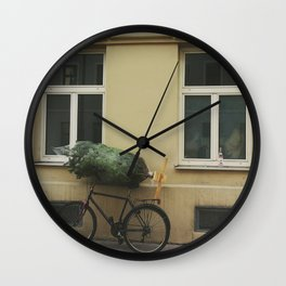 Christmas Tree Urban Wall Clock