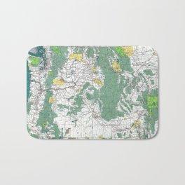 Pacific Northwest Map Bath Mat