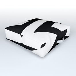 Black and white zing Outdoor Floor Cushion