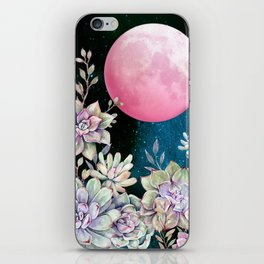 succulent full moon 3 iPhone Skin