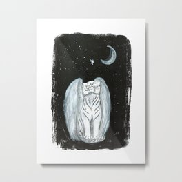 Tale of the Winged Tiger - Night Metal Print