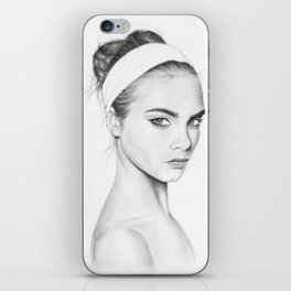 Cara Delevigne iPhone Skin