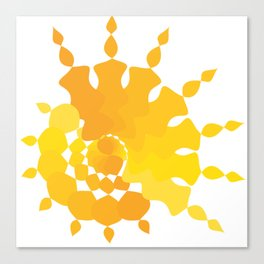 Sun star Canvas Print