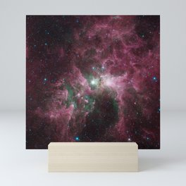 Abstract Purple Space Image Mini Art Print