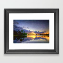 Lakeside Textures Framed Art Print
