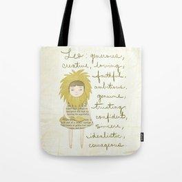 Leo girl Tote Bag