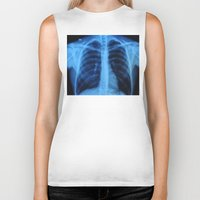medical Biker Tanks featuring x ray medical radiography by tony tudor