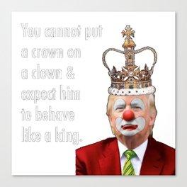 trump the clown Canvas Print