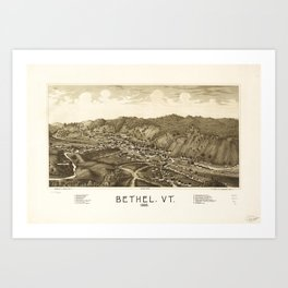 Aerial View of Bethel, Vermont (1886) Art Print