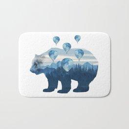 Misty Forest Bear - Hot Air Balloons Bath Mat