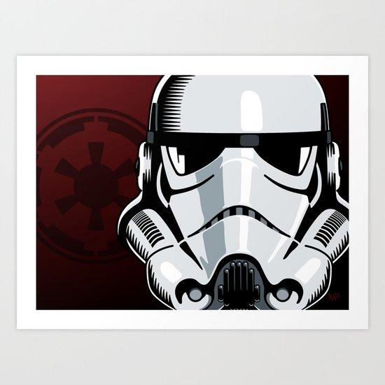 Empire Stormtrooper Art Print by Ikonographi | Society6