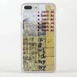 Last Minute Seduction Clear iPhone Case