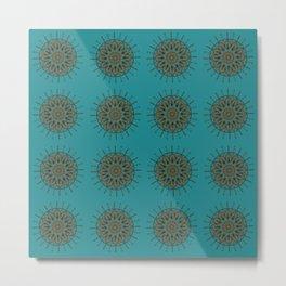 Himalayan Candy Green- Mini Mandala Pattern Metal Print