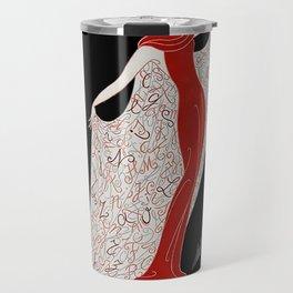 """Art Deco Fashion Design """"Alphabet Cloak"""" Travel Mug"""