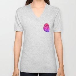 Aesthetic Heart Vaporwave Heart with japanese Text Unisex V-Neck