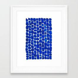 Brick Stroke Blue Framed Art Print