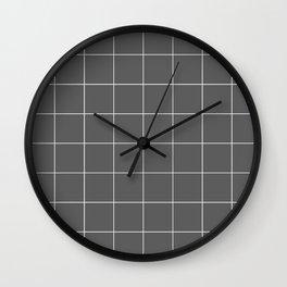 Graph Paper (White & Grey Pattern) Wall Clock