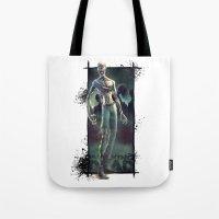 walking dead Tote Bags featuring Walking Dead by kcspaghetti