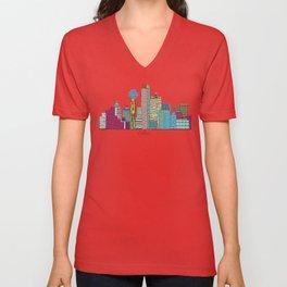 Dallas city  Unisex V-Neck