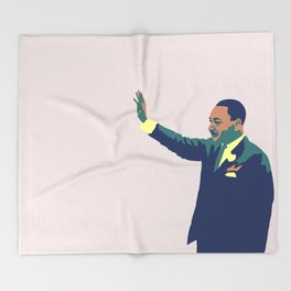 Martin Luther King Throw Blanket