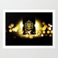 logo Art Prints featuring Logo by Azeez Olayinka Gloriousclick