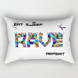 Eat Sleep RAVE Repeat Rectangular Pillow