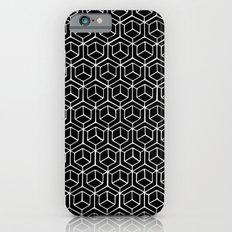 Hand Drawn Hypercube Black Slim Case iPhone 6s