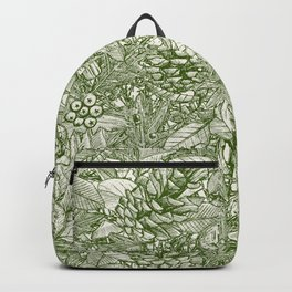 forest floor green ivory Backpack