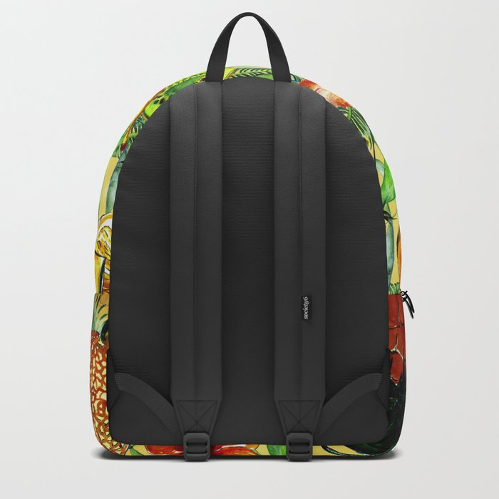 My tropical Summer Hibiscus and Fruits Garden- Jungle Pattern on #Society6 Backpack