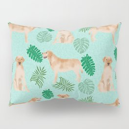 Yellow Lab summer monstera tropical pure breed dog gifts Pillow Sham