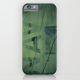 Fading Fuselage Navy Helicopter Airframe Green iPhone Case