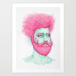 Pink Cloud Art Print